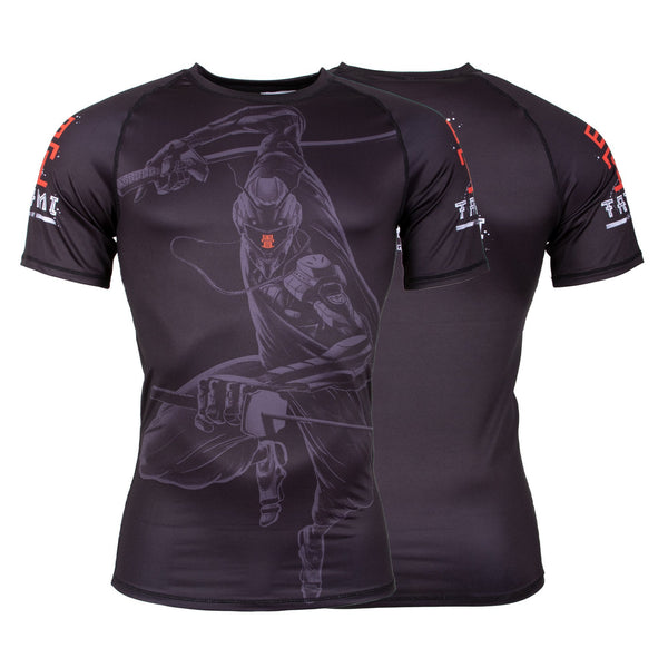 Ninja 2099 Short Sleeve Rash Guard  Tatami Fightwear Ltd. Rash Guard tatamifightwearro.myshopify.com BJJ MALL