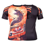 Godzilla Short Sleeve Rash Guard  Tatami Fightwear Ltd. Rash Guard tatamifightwearro.myshopify.com BJJ MALL