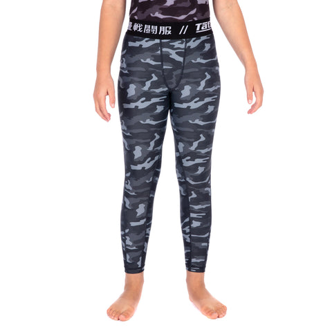 Kids Rival Black & Camo Grappling Spats 24h