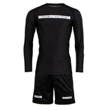 Rival Solid Black Long Sleeve Rash Guard