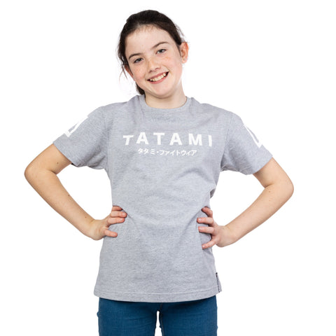 Kids Katakana T-Shirt Grey
