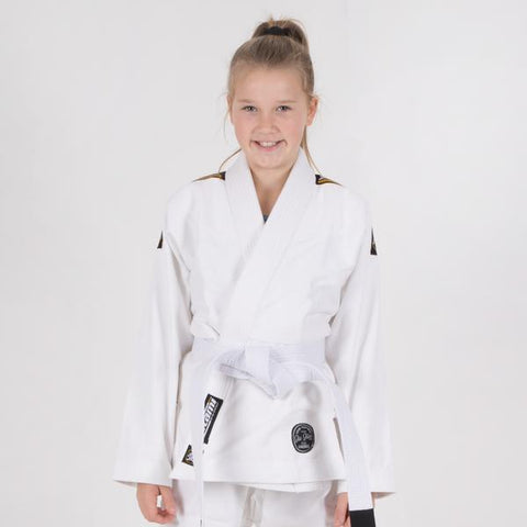 Kids Nova Absolute White Gi  Tatami Fightwear Ltd. BJJ GI tatamifightwearro.myshopify.com BJJ MALL