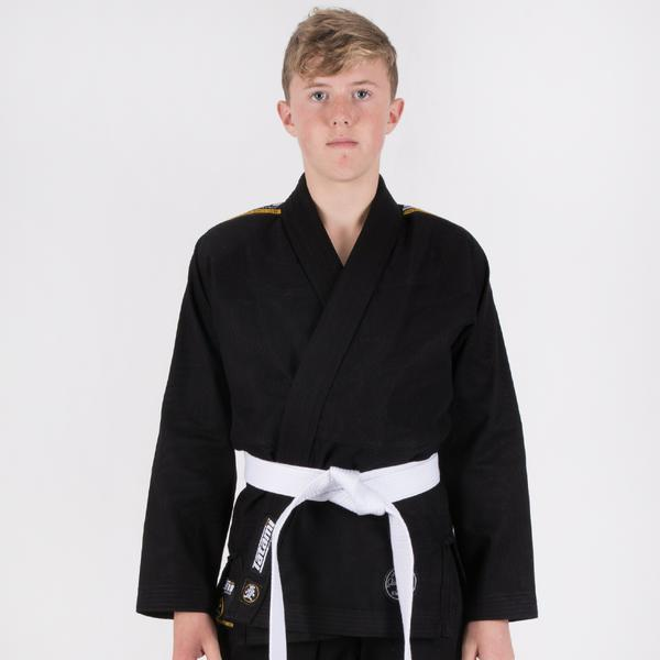 Kids Nova Absolute Black Gi  Tatami Fightwear Ltd. BJJ GI tatamifightwearro.myshopify.com BJJ MALL