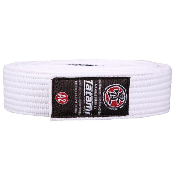 Adult BJJ Rank Belt - All Colours White / A4 Tatami Belt tatamifightwearro.myshopify.com BJJ MALL