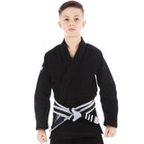 Kids Roots Jiu Jitsu Gi - Black  Tatami Fightwear Ltd. BJJ GI tatamifightwearro.myshopify.com BJJ MALL