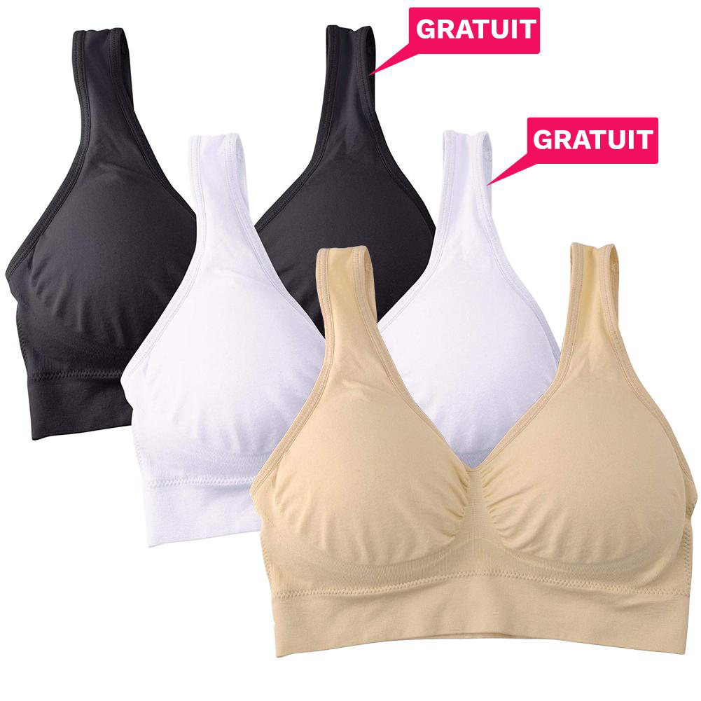 Soutien gorge Push Up sans armature (Pack de 3) - Easy Slim