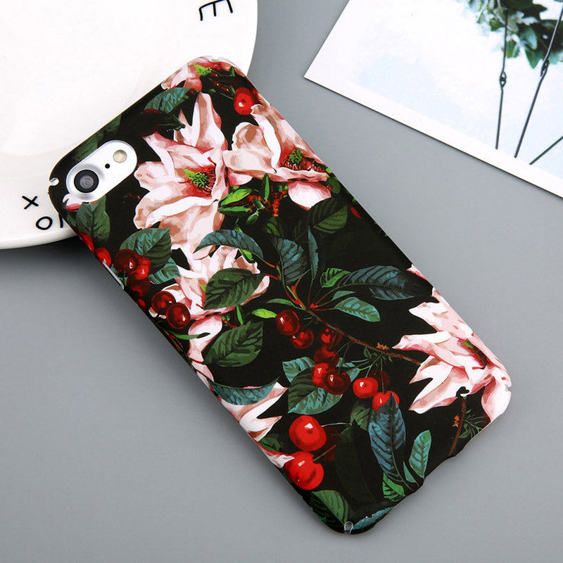 Dark Cherry Flower Case