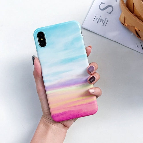 Cute Rainbow Marble Case