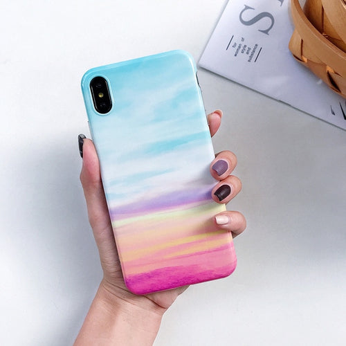 Cute Rainbow Marble Case (AMB)