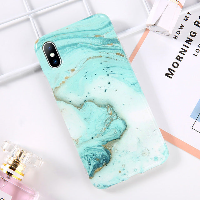 Cerulean Ocean Blue Marble Case (AMB)