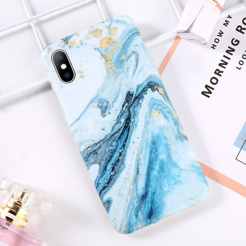 Turquoise Ocean Swirl Marble Case