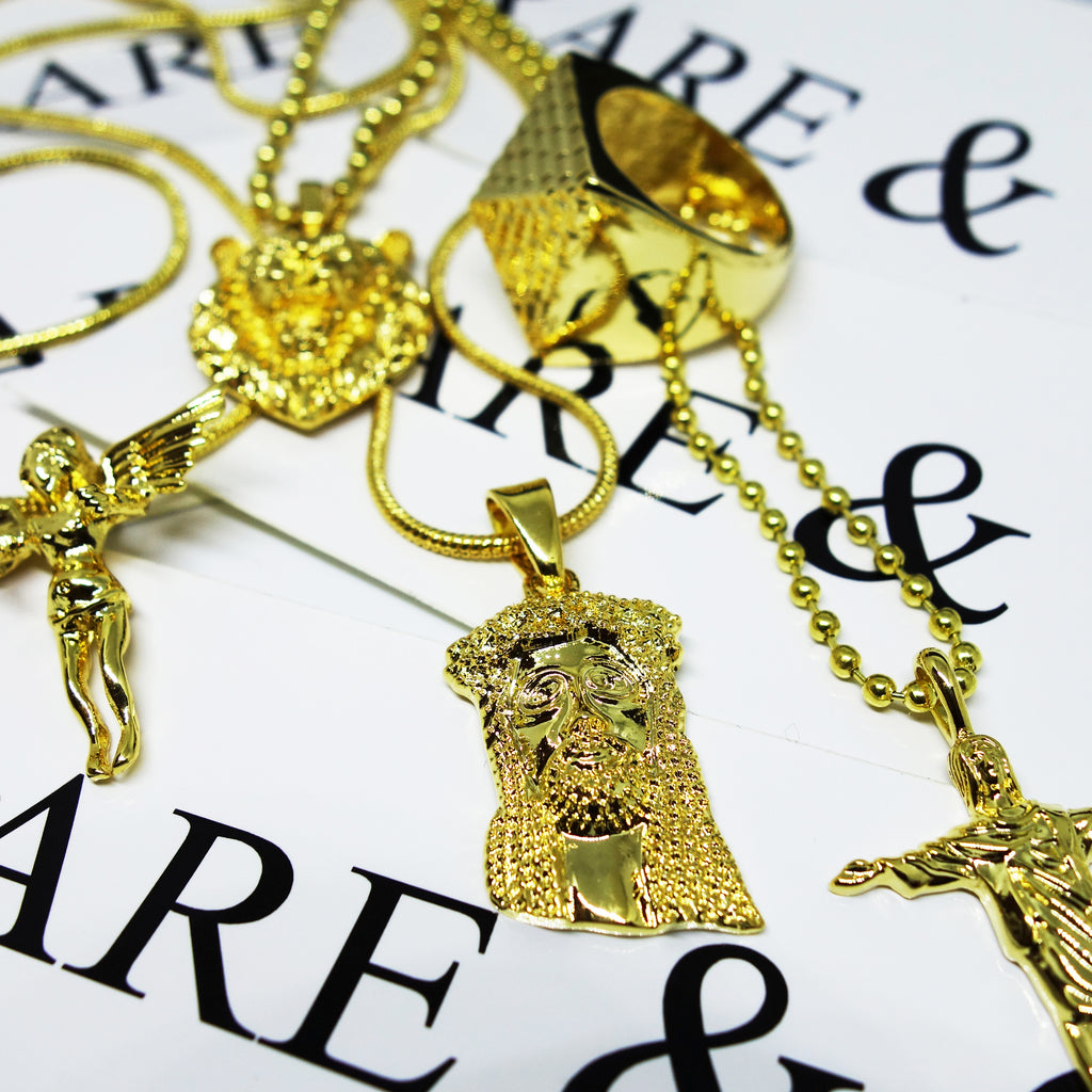 RARE & CO. SHOWCASE: THE GOLD SMALL JESUS PIECE NECKLACE