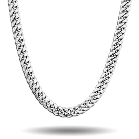WHITE GOLD ORIGINAL CUBAN LINK CHAIN