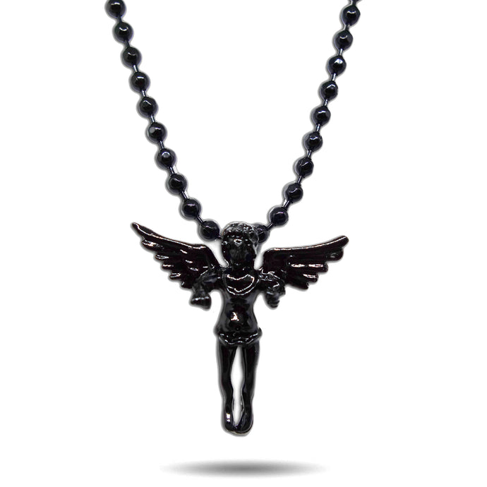 BLACK OUT MICRO ORIGINAL ANGEL PENDANT NECKLACE [ONLINE EXCLUSIVE]