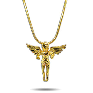 GOLD MICRO ORIGINAL ANGEL PENDANT NECKLACE