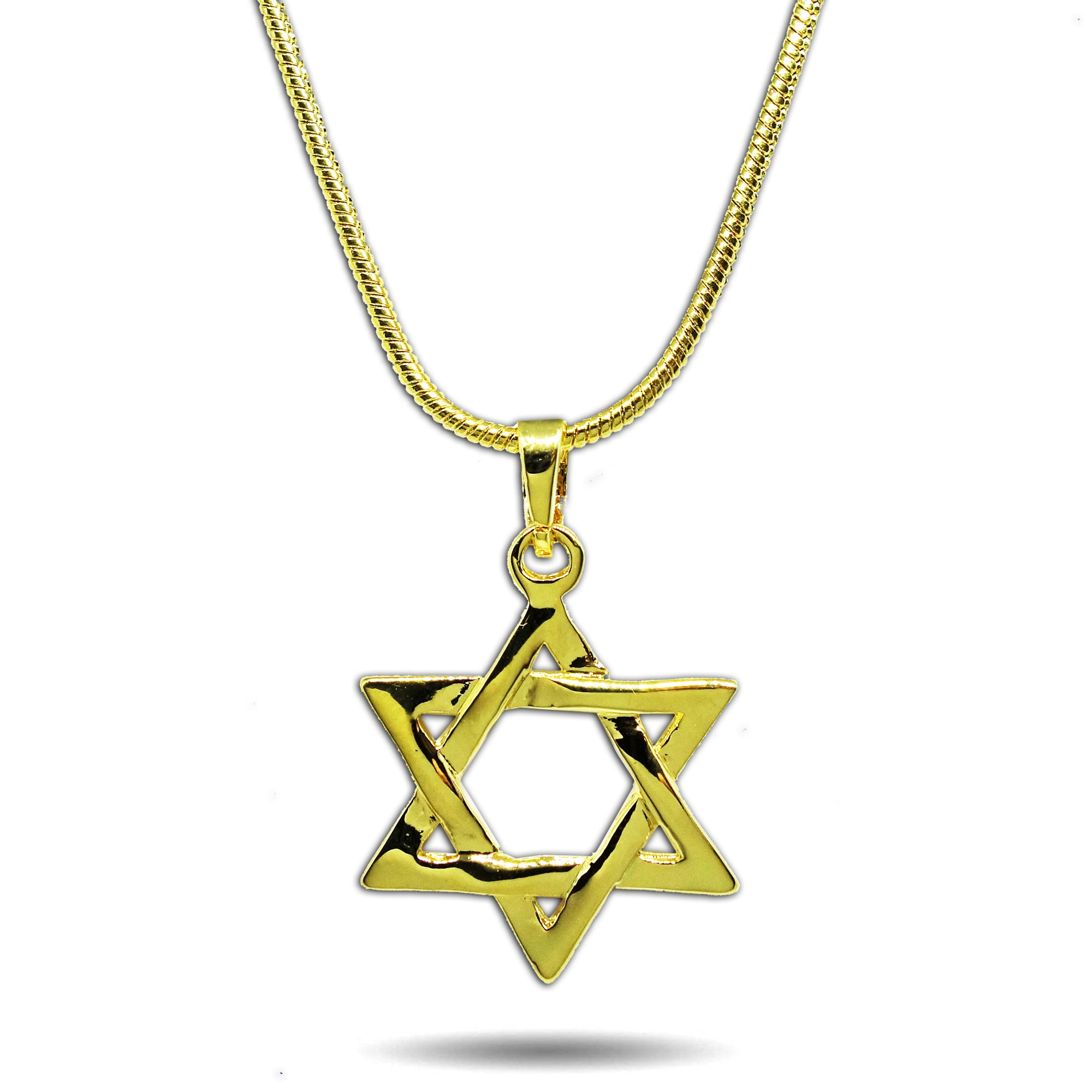GOLD SMALL STAR OF DAVID PENDANT NECKLACE