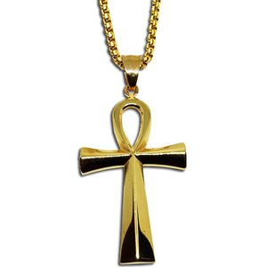 GOLD EGYPTIAN ANKH PENDANT NECKLACE