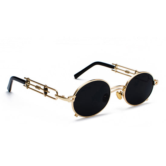 THE ITALIANO OVAL GOLD FRAME SUNGLASSES