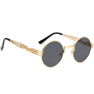 THE MILANO CIRCLE GOLD FRAME SUNGLASSES