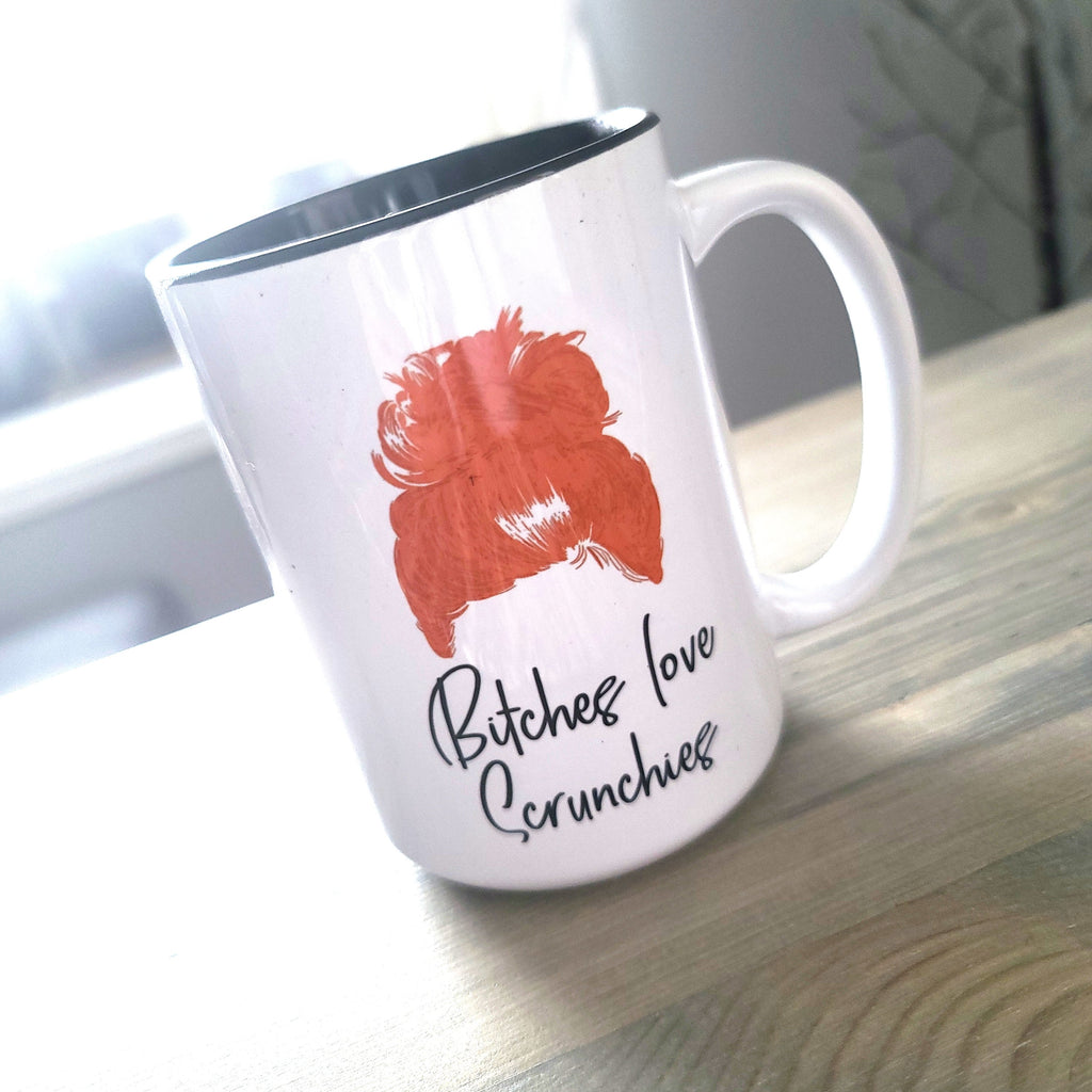 Ginger B*tches love scrunchies mug