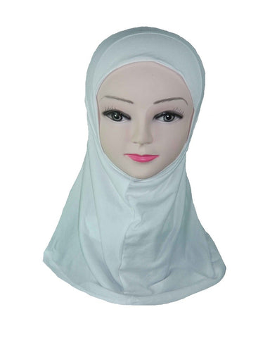 GIRLS PLAIN HIJAB - WHITE