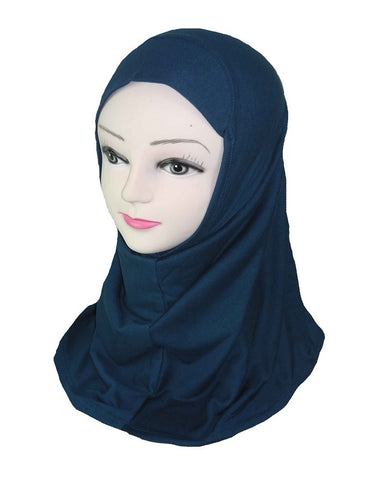 GIRLS PLAIN HIJAB - navy