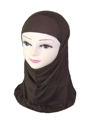 GIRLS PLAIN HIJAB - Brown