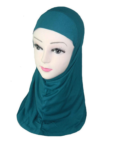 GIRLS PLAIN HIJAB - TEAL