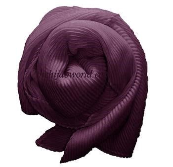 Pleated Hijab /Scarf - Burgundy