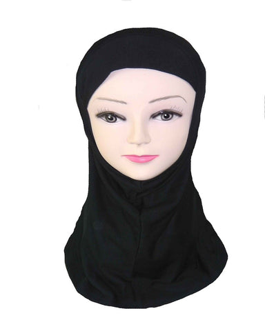 GIRLS PLAIN HIJAB - BLACK