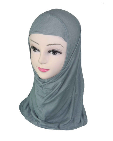 GIRLS PLAIN HIJAB - Grey
