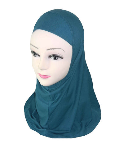 GIRLS PLAIN HIJAB - OCEAN