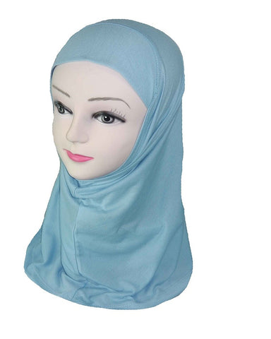 GIRLS PLAIN HIJAB - LIGHT BLUE