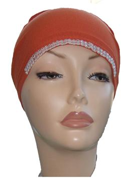 Diamante Tie Bonnet Ac- Burnt Orange
