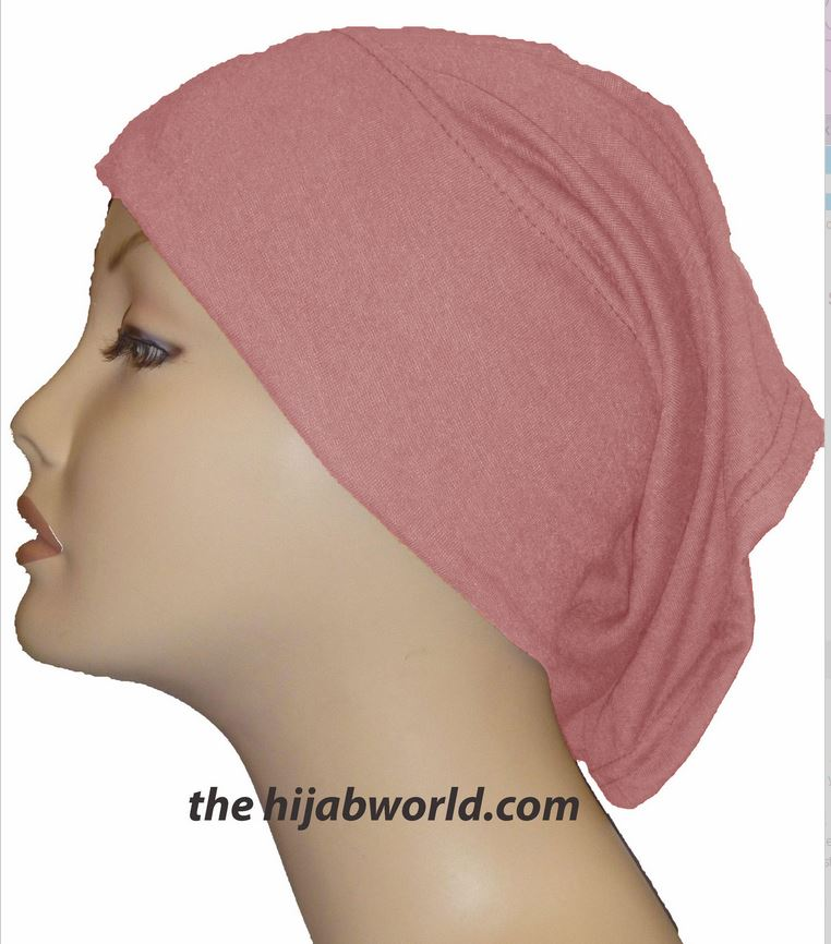 Tube Plain Underscarf - Light Coral