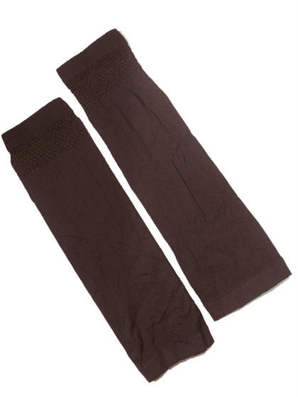 FINE ARM COVERS/SLEEVES - DARK BROWN