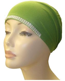 Diamante Tie Bonnet Ac- Green