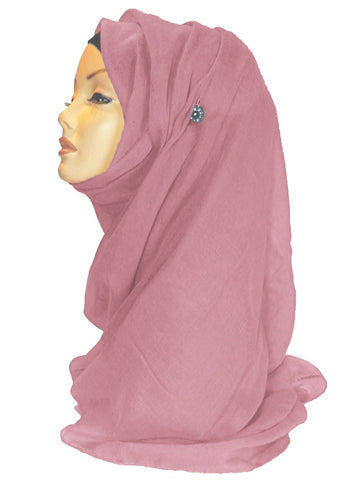 Improved Maxi Hijab/Scarf - Dusky Pink