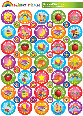 REWARD STICKER PACK - RAINBOW - 236 ENGLISH
