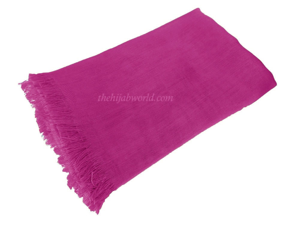 LARGE SILKY SHEEN SCARF SS-  Fuchsia