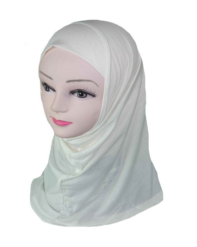 GIRLS PLAIN HIJAB - CREAM