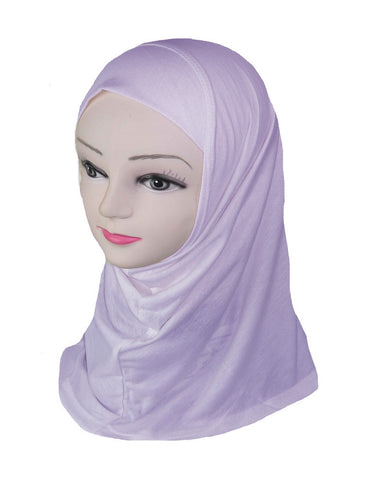 GIRLS PLAIN HIJAB - LILAC