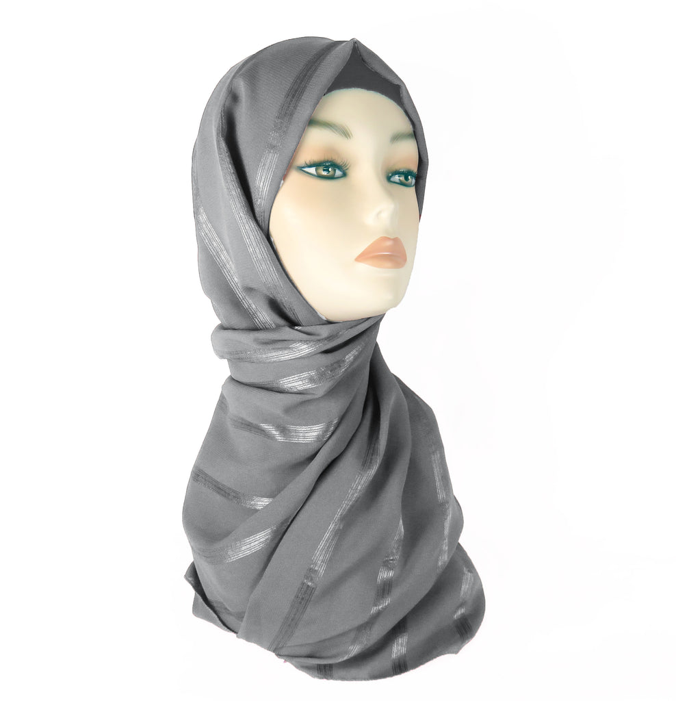 Lined Small Scarf - LS-GREY