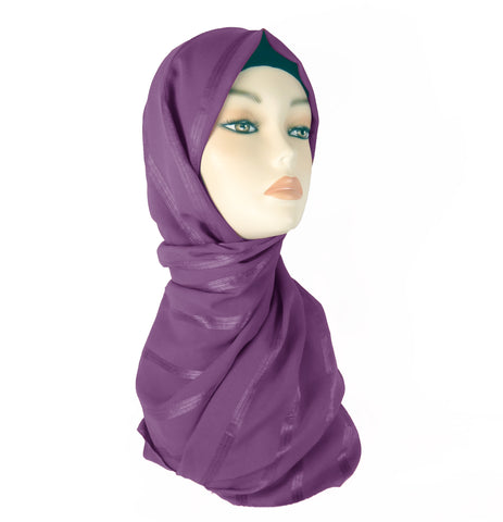 Lined Small Scarf  LS - Mauve