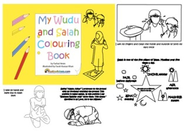 MY SALAH AND WUDU COLOUR BOOK