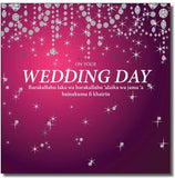 Wedding Day Card -Fuchsia  WWC032