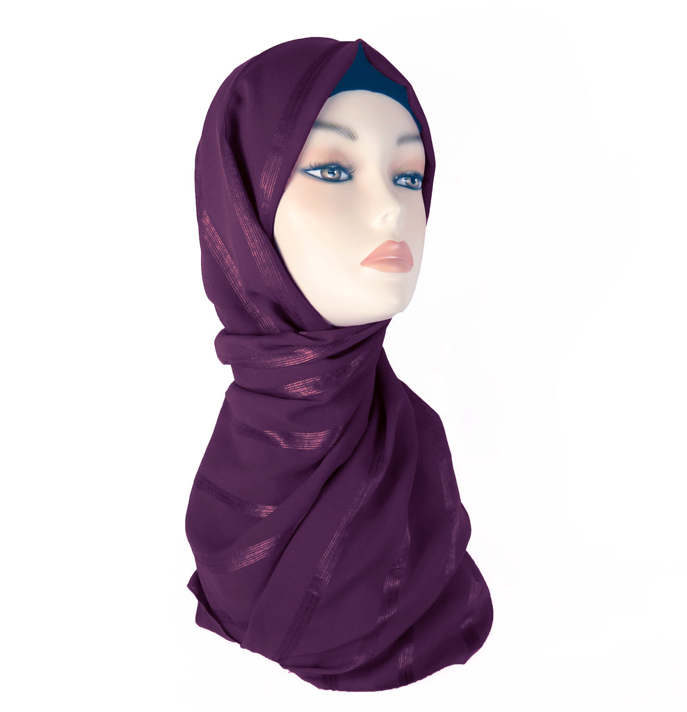 Lined Small Scarf - LS-Deep Burgundy