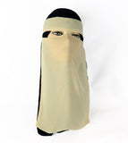 Niqab with Velcro - Beige Ac-03