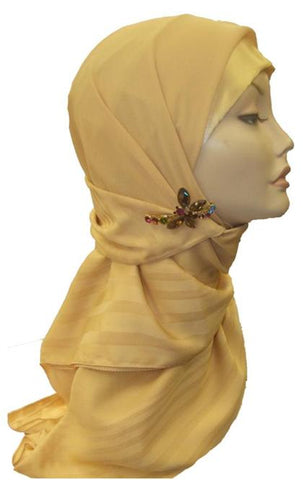 Bordered Square Scarf SPS - beige