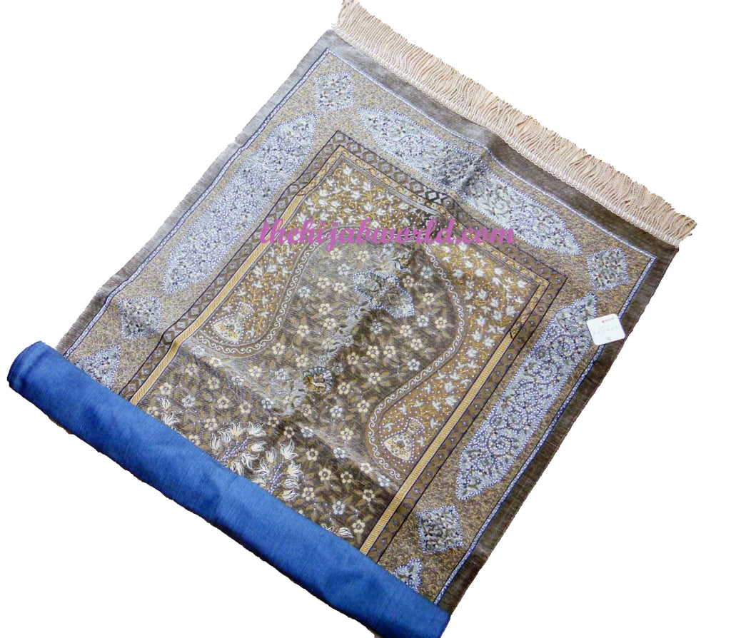 GIFT BOXED LUXURY PRAYER MAT WI- BEIGE